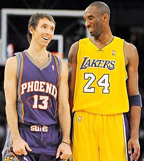 Kobe: Vamos se campeões, Steve? Nash: Só se eu puder conduzir a bola